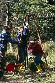 Coring at Seewadel (Hegau, 1990)